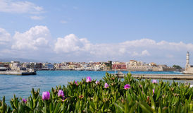 Chania harbor Stock Images