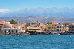 Chania Harbour. Crete Stock Photos