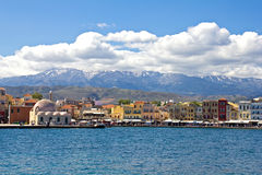 Chania harbour. Crete Royalty Free Stock Image