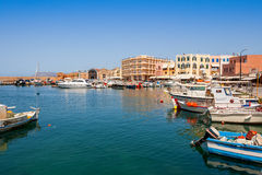 Chania harbour. Crete, Greece Stock Images