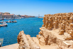 Chania harbour. Crete, Greece Royalty Free Stock Image