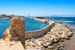 Chania harbour. Crete, Greece Royalty Free Stock Images