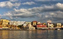Chania Harbour, Crete Royalty Free Stock Photos