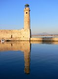 Chania Harbour Pier in Greece. The pier and light house of Chania on Creete in Greece Stock Image