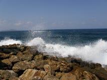 Chania havssikt, Kreta, Grekland Arkivbilder