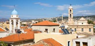 Chania horisont, Kreta Arkivbilder