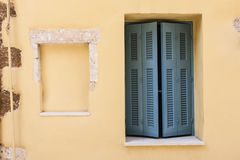 Chania house detail. House door detail in Chania, Crete Royalty Free Stock Photos