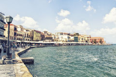 Chania on island of Crete, Greece Royalty Free Stock Images