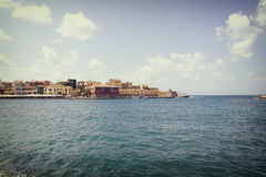 Chania on island of Crete, Greece Stock Image