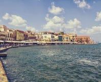 Chania on island of Crete, Greece Stock Photos