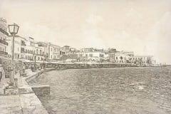 Chania on island of Crete, Greece Royalty Free Stock Photography
