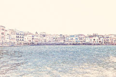 Chania on island of Crete, Greece Royalty Free Stock Image