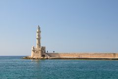 Chania Kreta gamla Faros Royaltyfri Fotografi