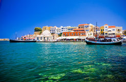 Chania/Kreta/Griekenland stock foto