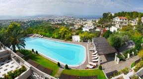 Chania KretaGrekland lyxigt hotell Arkivfoto