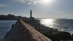 Chania Latarnia morska zdjęcie royalty free