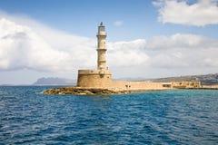 Chania latarnia morska, Crete Zdjęcia Royalty Free