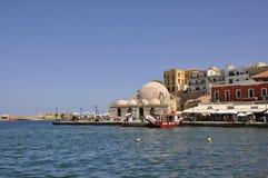 Chania, le 1er septembre : Mosquée Kucuk Hasan de Chania en île de Crète de la Grèce image libre de droits