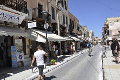 Chania, le 1er septembre : Street View de Chania en île de Crète de la Grèce photographie stock