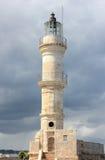 Chania-Leuchtturm am Hafen Kreta, Griechenland Stockbild