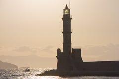 Chania lighthouse Royalty Free Stock Photo