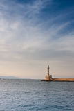 Chania Lighthouse. Lighthouse in the Venetian harbour in Chania, Crete, Greece Stock Photo