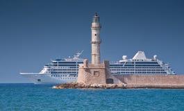 Chania lighthouse Stock Image