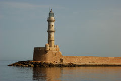 Chania Lighthouse. The Venetian Lighthouse, Chania, Crete, Greece Royalty Free Stock Images