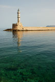 Chania Lighthouse. The Venetian Lighthouse, Chania, Crete, Greece Stock Photography