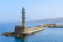 Chania Lighthouse Stock Photo