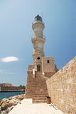Chania Lighthouse in Crete Royalty Free Stock Image