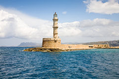 Chania lighthouse, Crete Royalty Free Stock Photos