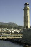 Chania lighthouse and harbor Stock Images