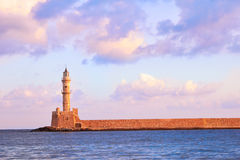 Chania lighthouse Royalty Free Stock Image