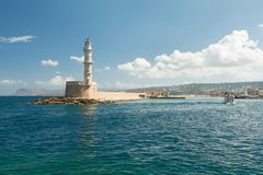 Chania Lighthouse Stock Photo