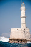 Chania lightouse Stockbild