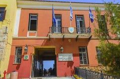 Chania - 21 mai - vieille ville. Entrée au musée maritime du ch Photos stock