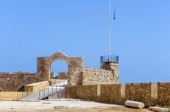 Chania - 21 mai - vieille ville. Le musée maritime de Chania, Crète, Photos stock