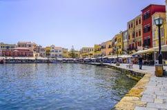 Chania - 21 mai - ville de Chania en Crète dedans le 21 mai 2013 Photographie stock libre de droits
