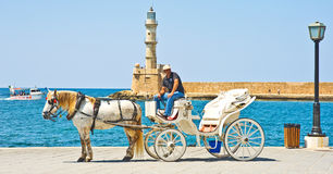 Chania, a major tourist destination. Stock Photo