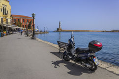 Chania - May 21 - Chania old town  in Crete in May Stock Image