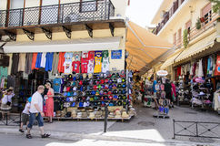 Chania - May 21 -Tourist shops- Chania,Crete-Greec Stock Photos