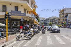 Chania - May 21 -Tourist shops on the sreet in Chania- Chania,Cr Royalty Free Stock Images