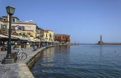 Chania miasteczko w Crete w Maju 21, 2013 Chania, Maj - 21 - Obraz Royalty Free
