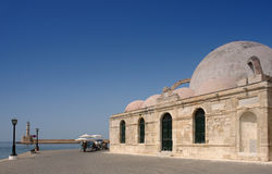 Chania mosque. In venetian harbor from crete island Stock Photography