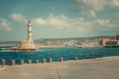 Chania Old Harbor Royalty Free Stock Photography