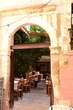Chania, open-air cafes Royalty Free Stock Photos