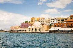 Chania på Kreta Fotografering för Bildbyråer