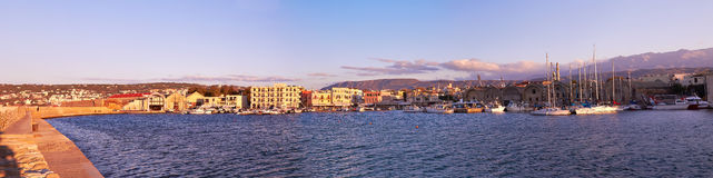 Chania port Stock Image