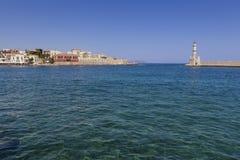 Chania port Crete Grecja Obraz Royalty Free